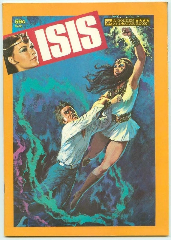 Isis CBS Saturday Morning Live Action Filmation TV Golden All Star Book 1977 New Old Stock Mint