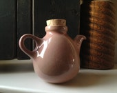 Edith Heath Ceramics Miniature Teapot with Cork Pink 1950's Vintage Lovely Free Shipping.
