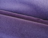 Velvet Corduroy Cotton Upholstery Fabric, Solid Purple