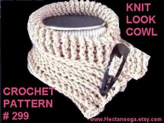 Crochet pattern COWL, NECKWARMER, women,  Knit Look Crochet, num. 299,  INSTANT download