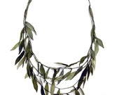 Upcycled Leather OLIVE BRANCH NECKLACE