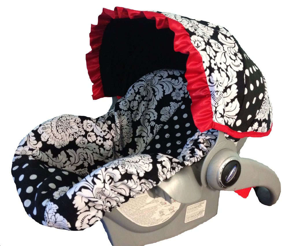 Infant Car Seat Cover Baby Car Seat Cover Red By Sassycovers