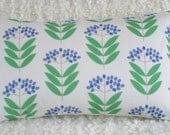 Blue Elderberry bolster cushion cover