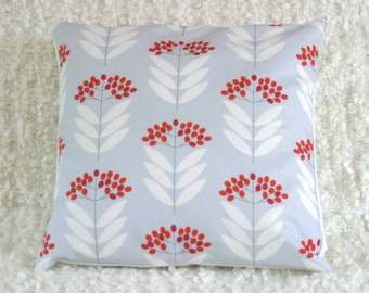 STUDIO SALE - Pale Blue Elderberry Throw Cushion Cover Pillow Sham