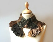 handwoven alpaca neckwarmer - brown colors