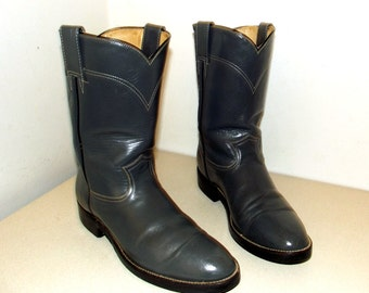 RESERVED -- Grey cowboy boots- Roper style -  size 9.5 D or cowgirl size 11