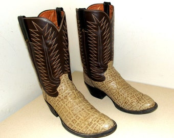 Cowtown two tone brown cowboy boots -  size 10.5 D or Cowgirl size 12