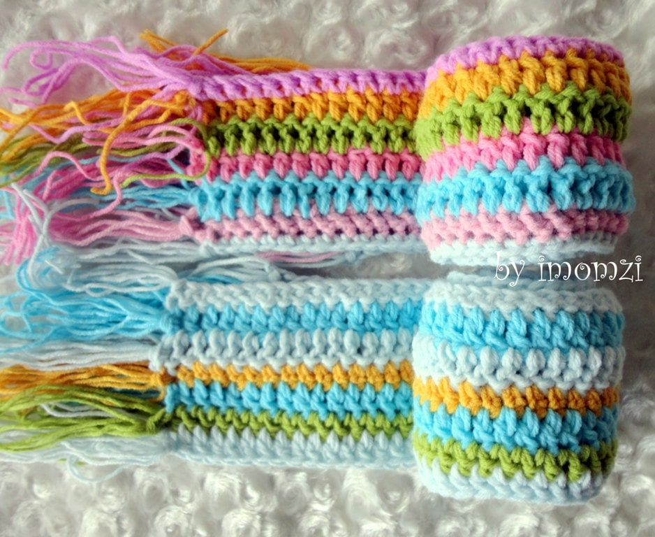 Kid Scarf Kids Scarf in Rainbow Colors for Toddler by mybabyhats Crochet Scarf Kids