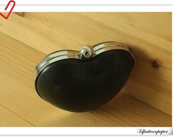 13cm x 11cm  Silver heart shape  Box  purse frame  purse making supplies Y24