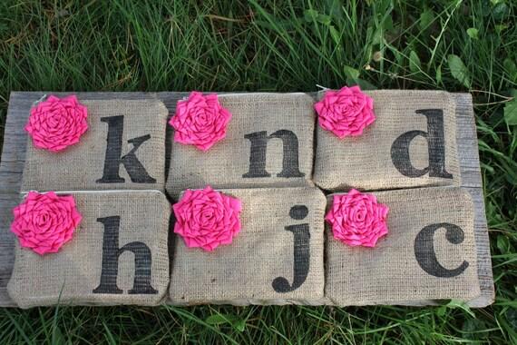 English Garden Wedding, 6 Custom Wedding Clutches, Pink Wedding, Personalized Bridesmaid Clutch, Mother of the Bride Gift, Burlap Wedding