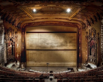 "Chicago Neglected Beauty, Fine Art, Architectural surreal color photography uptown theater ""Re-Focus"""
