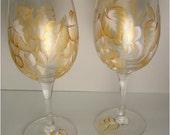 Hand Painted Wine Glasses 10 oz.