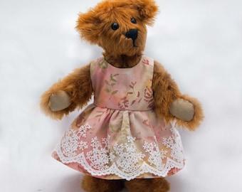 Mohair Teddy Bear Hand Made 10 inch