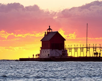 Grand Haven Magnificence - Canvas Wrap - Michigan Photography