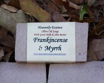 Reserved for kfuller174 Frankincense and Myrrh Goat milk castile soap