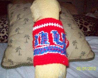 NY Giants Pet Sweater