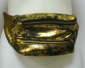 Distressed Gold Leather Fanny Pack