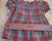 Two vintage doll dresses from the 1940s doll clothes home made hand sewn