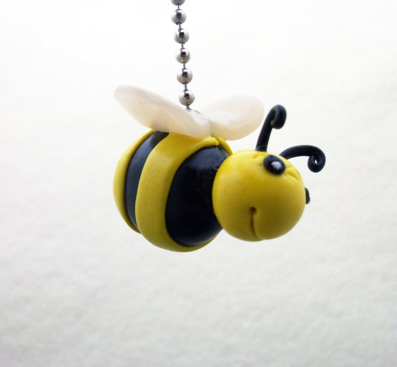 Bumble bee fan pull honey bee fan pull bee nursery decor for Bumble bee mural