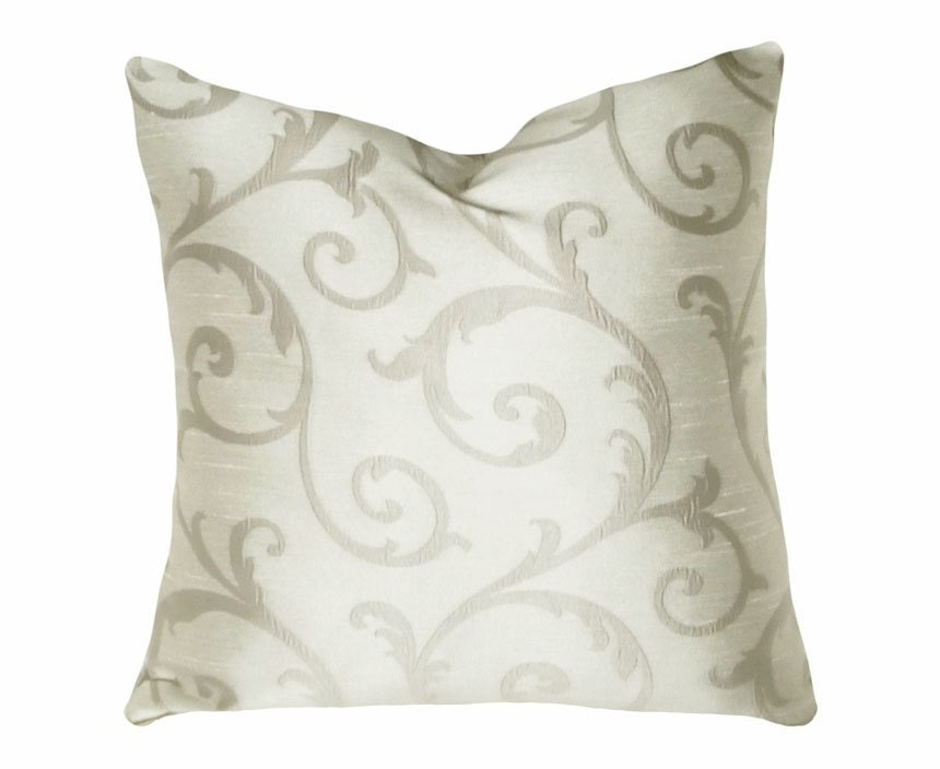 NEW YEAR SALE Silver Throw Pillows Decorative Pillow Covers