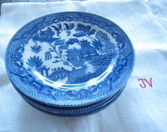 Blue Willow butter plates