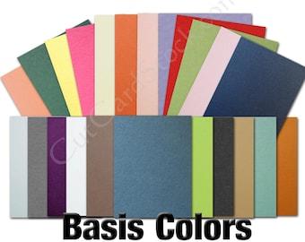 Basis BLACK 80lb Card Stock 8.5x11 - 25 sheets