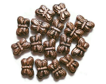 5mm x 9mm Butterfly Acrylic Beads (25) Copper