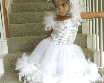White Swan Princess Costume for Little Girl