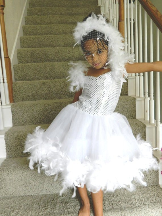 White Swan Princess Costume For Little Girl By Dipdesigns