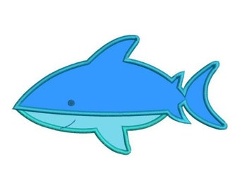 Applique Shark Machine Embroidery Designs 4x4 & 5x7 Instant Download Sale