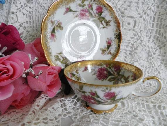 Vintage Napco Handpainted Tea Cup     no15