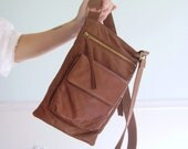 City Slicker Vintage Early 90s Cross Body Genuine Leather Shoulder Bag