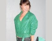 vintage emerald leather jacket