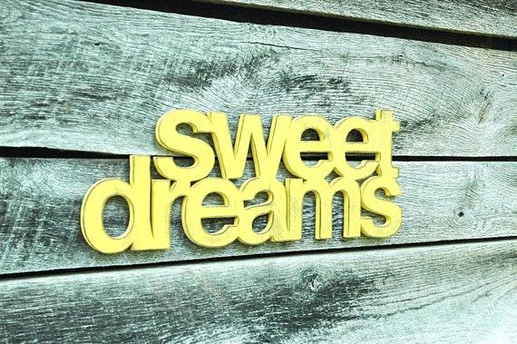 Items similar to nursery and bedroom decor -SWEET DREAMS ...