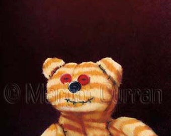 Stitched Tiger postcard 6-pack