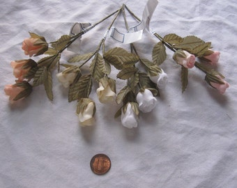 Rose bud x 3: Weddings, Crafts, Millinery