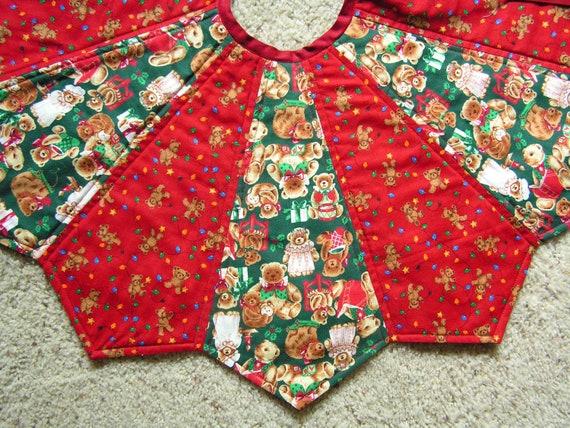 30 Inch Teddy Bear Christmas Tree Skirt