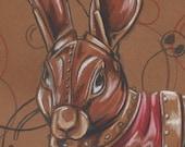 Clockwork Rabbit 8.5 X 11 inch Original Drawing