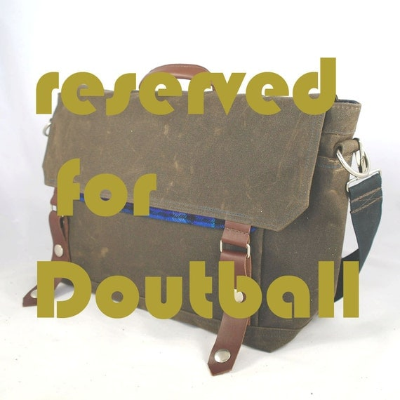 RESERVED FOR DOUTBALL - Scout Waxed Canvas Messenger