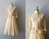 1950s dress / lace 50s dress / wedding suit / Bells are Ringing