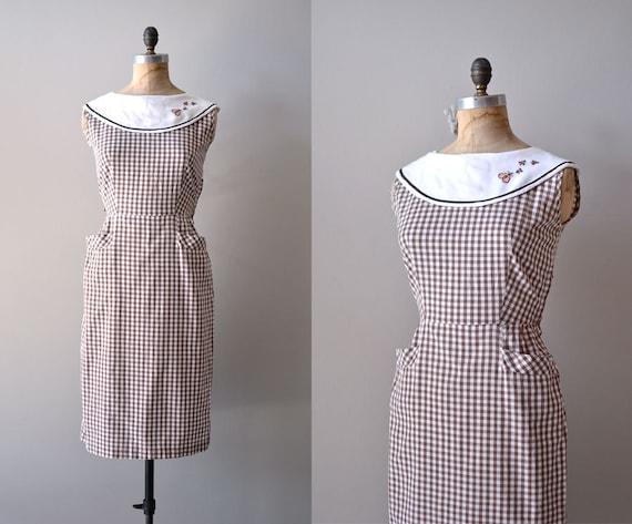 vintage 50s dress / 1950s dress / the Bee's Knees dress