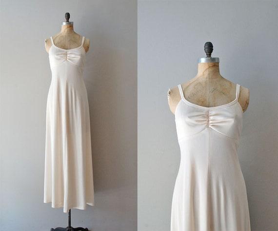 maxi dress / 70s long dress / Tabula Rasa dress