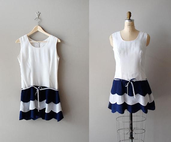 1960s dress / 60s mini dress / Nautical Mile