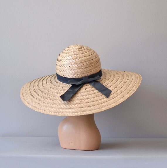wide brim straw hat / woven sunhat / Plantation hat