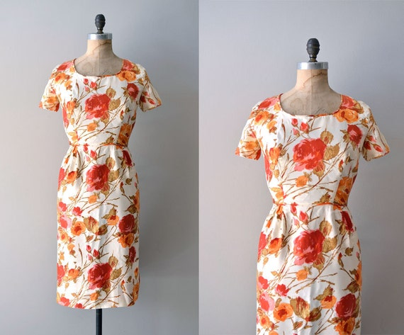 1950s dress / 60s dress / floral dress / Royleana dress