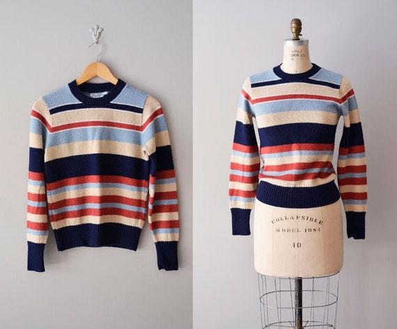 1970s sweater / 70s striped sweater / Tomboy Stripe sweater
