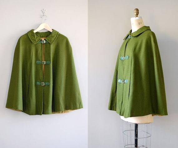1960s cape / wool cape coat / Portobello cape