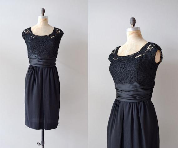 vintage 50s dress / black 1950s dress / A Little More Rhythm