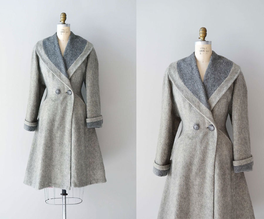 Vintage 1940s Coat 40s Wool Princess Coat Fond Farewell