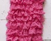 Petti Lace Ruffle Romper HOT PINK LARGE Photo Prop